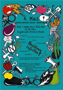 Plakat SoliLa Landbesetzung 4. Mai 2013