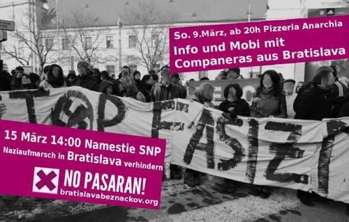 Flyer Bratislava Nazifrei 15.3. + Info-Event 9.3.