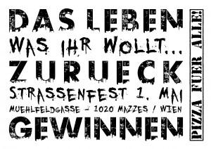 Plakat 1. Mai Straßenfest: Was ihr wollt...